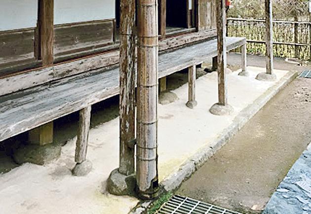二階堂家住宅の礎石