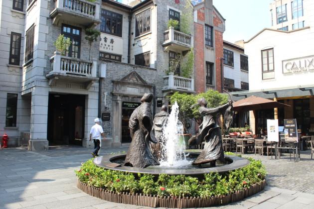 上海・新天地の噴水