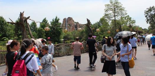 上海ディズニーランドの風景