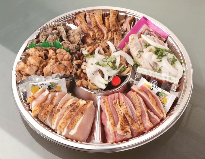 鶏屋ひらはら 7種類のオードブル皿