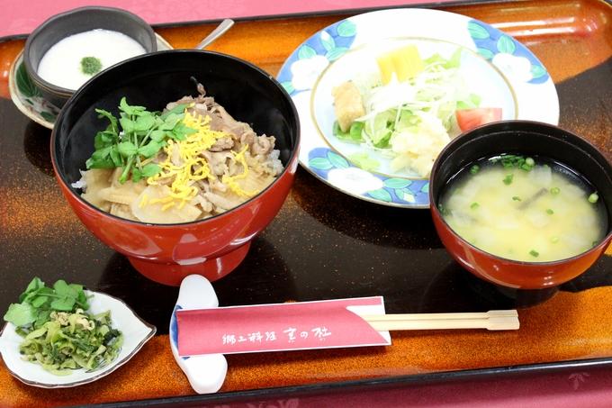 黒毛和牛たけのこ丼(郷土料理 宮の杜)