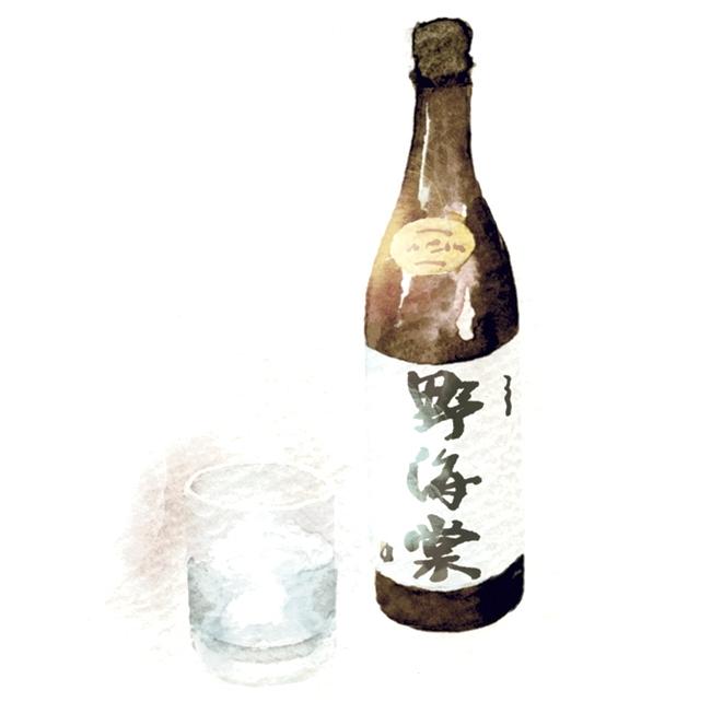 芋焼酎 野海棠(のかいどう)イラスト
