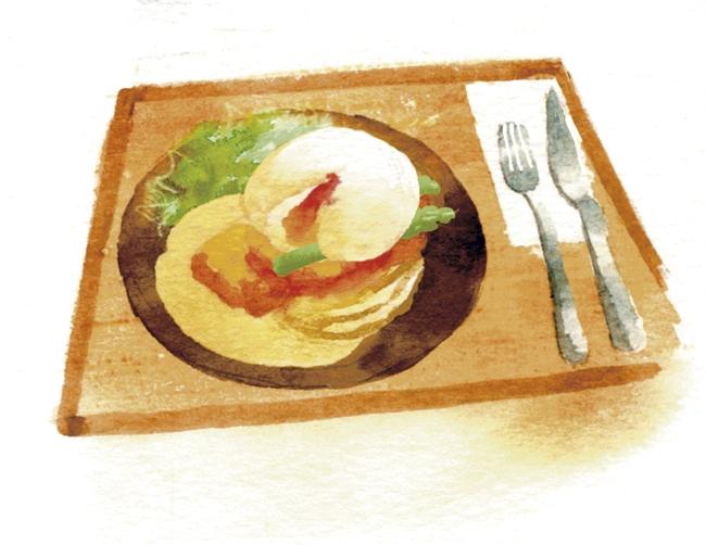 タマチャンショップ パンケーキを使ったランチイラスト