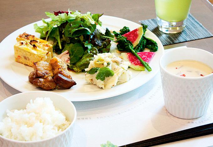 CHAHO SHIMODOZONO(下堂薗茶舗) お菜ランチ