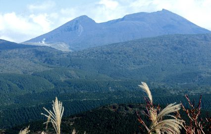 栗野岳登山道から望む霧島連山
