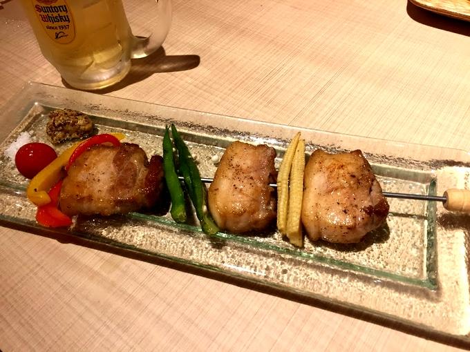 アフロデボーノ 黒豚バラ肉と季節野菜のイタリアン串