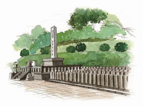 鹿児島戦没者墓地イラスト