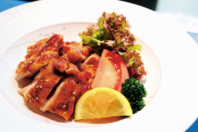 桜島鶏の黒酢照り焼き
