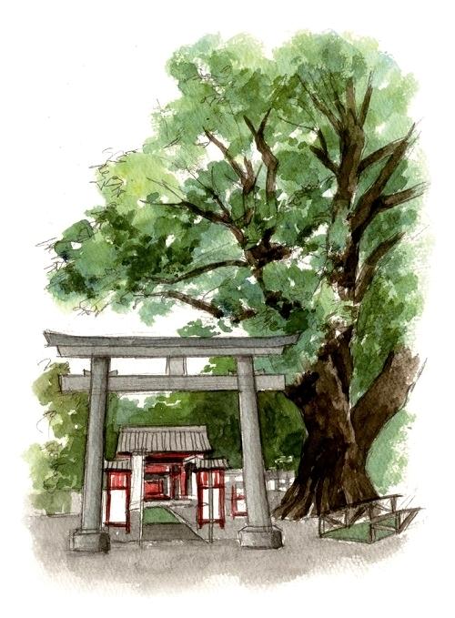 安楽山宮神社イラスト