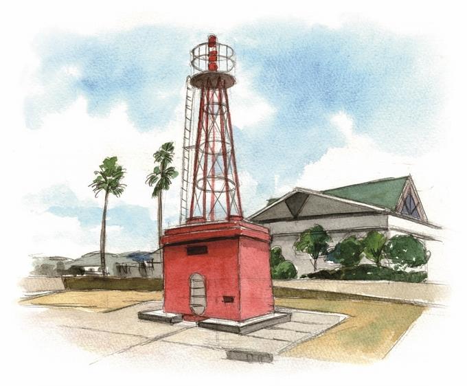 鹿児島旧港北防波堤灯台イラスト