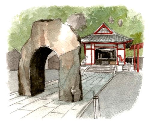 稲荷神社イラスト