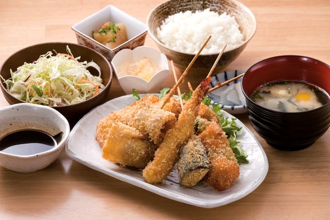 えびす食堂「串揚げフライ定食」