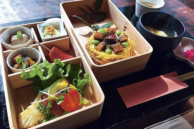 蒲生茶廊zenzai「曲げわっぱランチ」