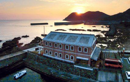 いちき串木野市羽島の夕陽