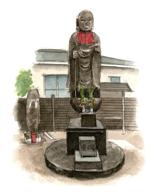 八坂神社の地蔵菩薩イラスト