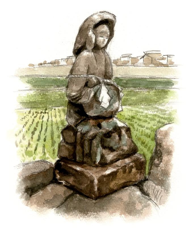 川口の田の神イラスト