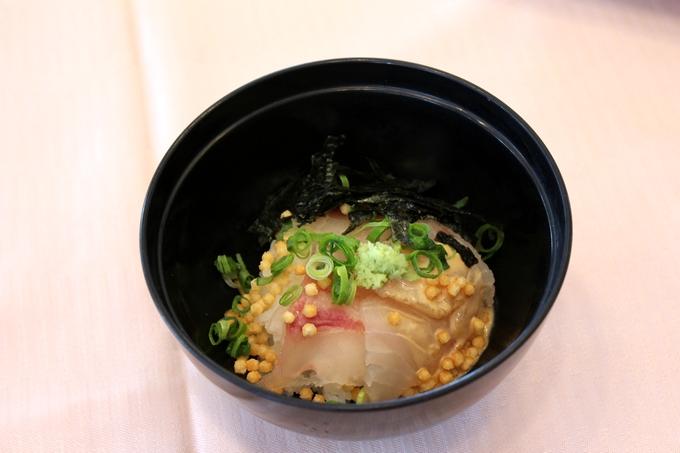 城山ホテル鹿児島朝食バイキング「真鯛潮茶漬」