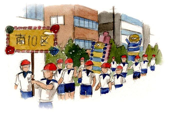 西陵夏祭りイラスト