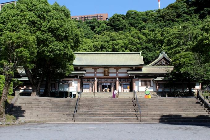 島津斉彬公を祀る照国神社の拝殿