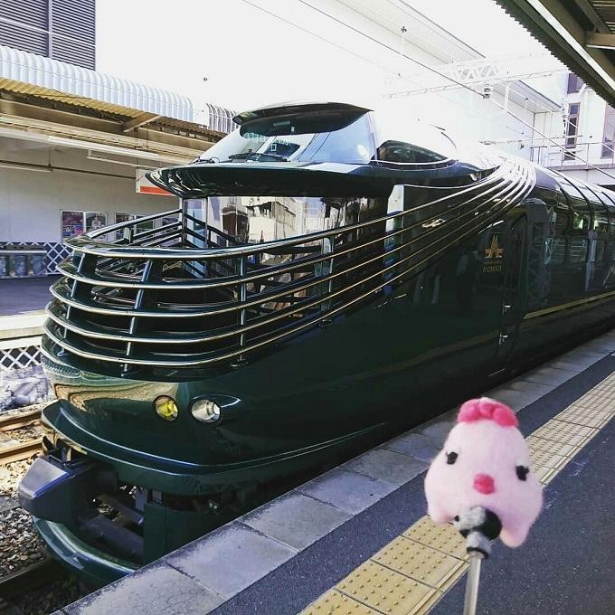 倉敷駅の「トワイライトエクスプレス瑞風」