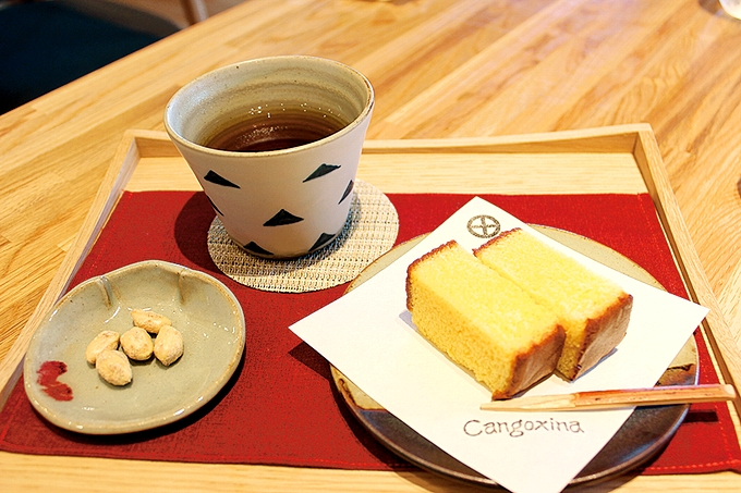 仙巌園茶寮「かすてら」