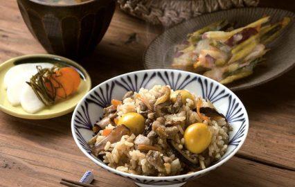 きんかん入り地鶏の炊き込みご飯