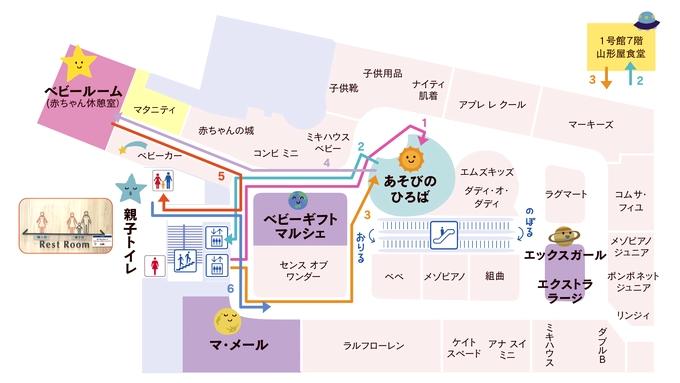 山形屋2号館4Fベビー・子供服売り場レイアウト図