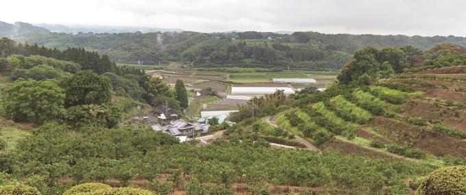 田原坂西南戦争資料館から見た田原坂周辺