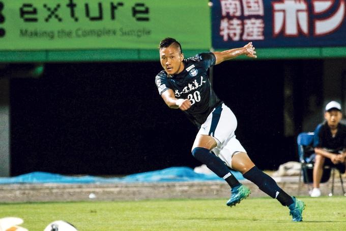 鹿児島ユナイテッドFC FW_30:萱沼優聖選手プレー中