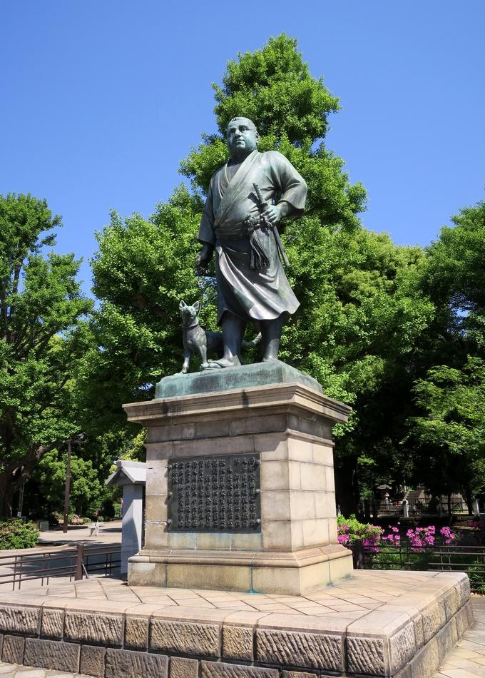 上野公園の西郷銅像