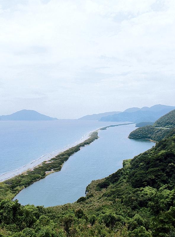 田之尻展望所から望む「長目の浜」