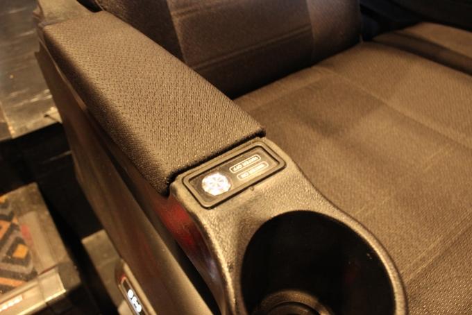 シネマサンシャイン姶良「4DX」シートのスイッチ