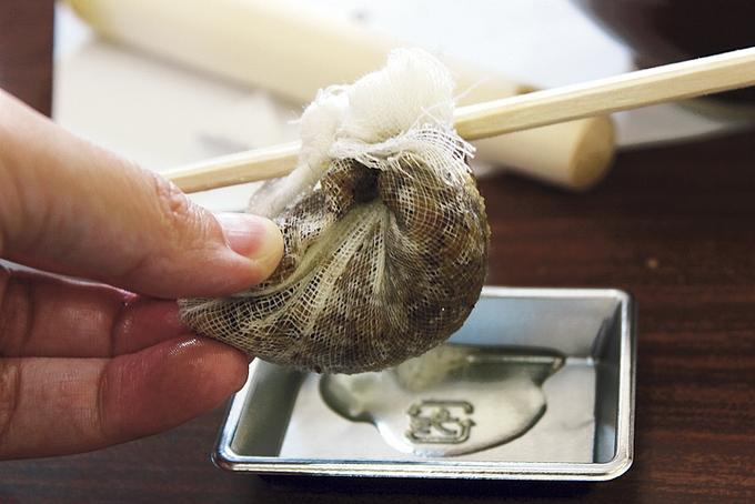 椿油の作り方③