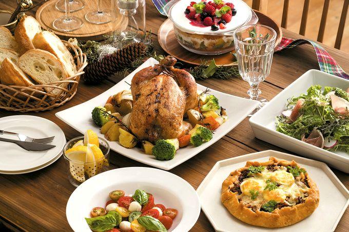 クリスマスパーティーの食卓