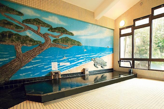 中島温泉旅館大浴場