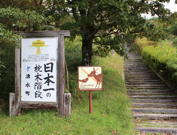 栗野岳・日本一の枕木階段の登り口