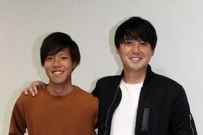 鹿児島ユナイテッドFCマネージャー:鮫島翼さんと水口昂さん