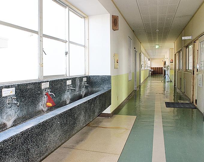 レモンせっけんが懐かしい手洗い場