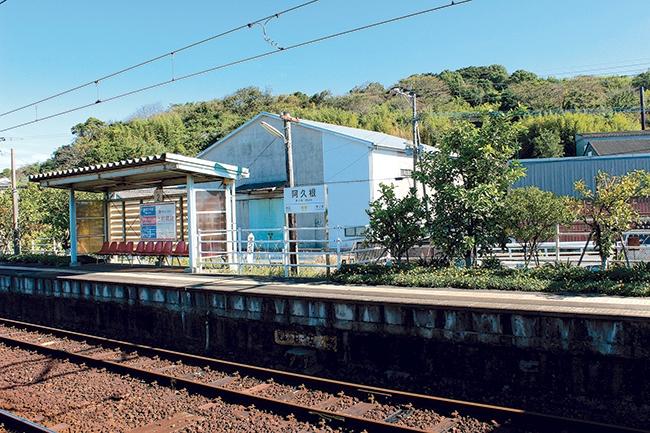 阿久根駅のプラットフォーム