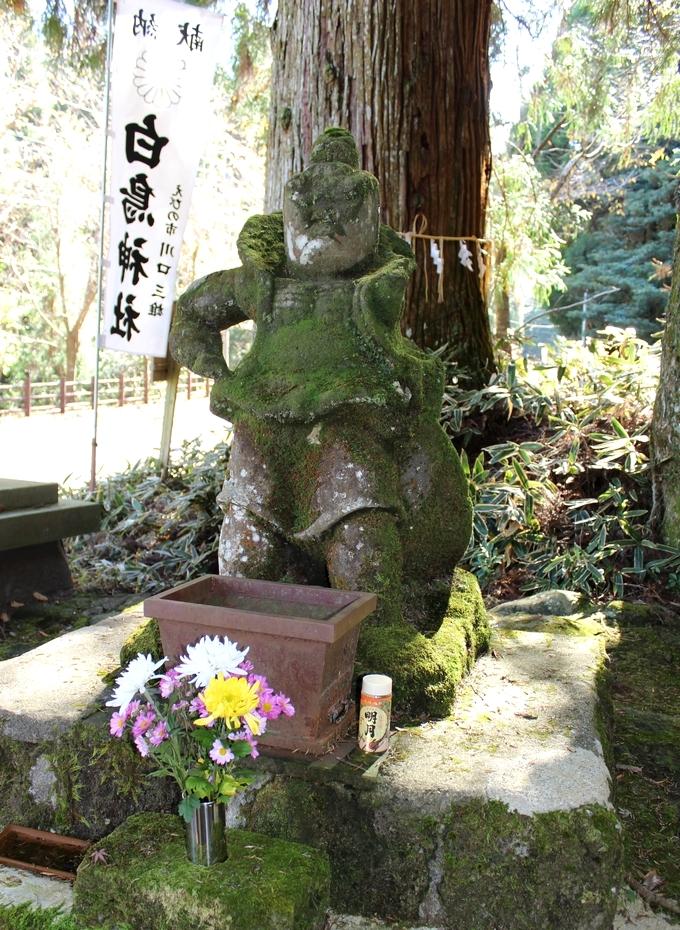 白鳥神社 阿吽の仁王像