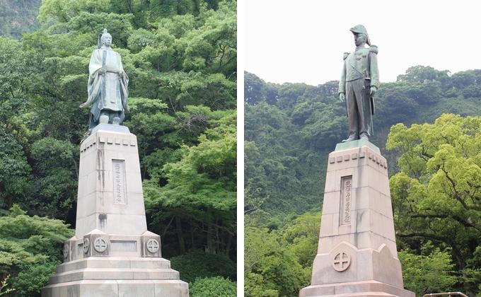 薩摩藩国父・島津久光公と12代藩主・島津忠義公銅像