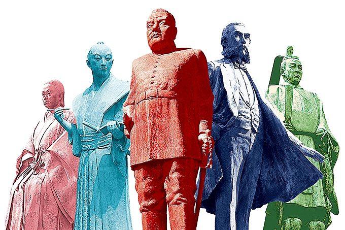 鹿児島の偉人たちの像(コラージュ)