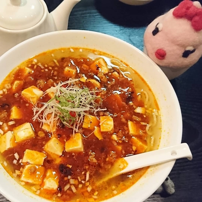 中国料理 翠園「激辛マーボーつゆそば」