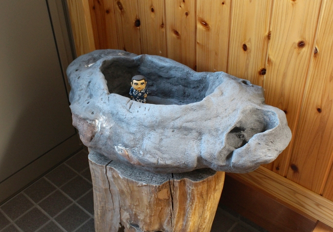 高須町民会館 手水鉢の複製