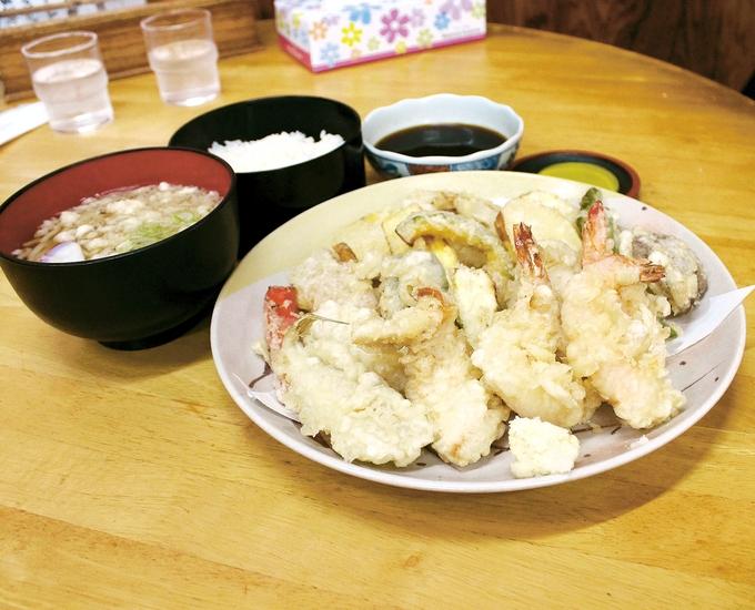 桂庵「天ぷら定食」