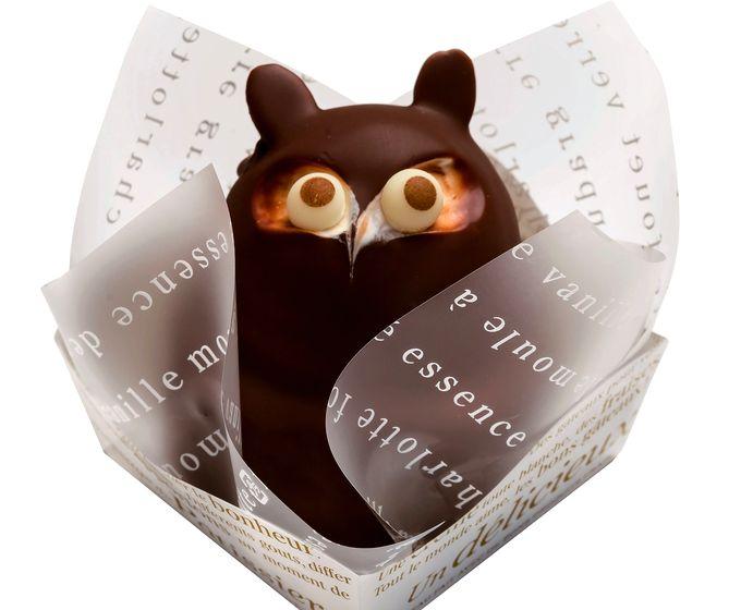 のせ菓楽のたぬきケーキ