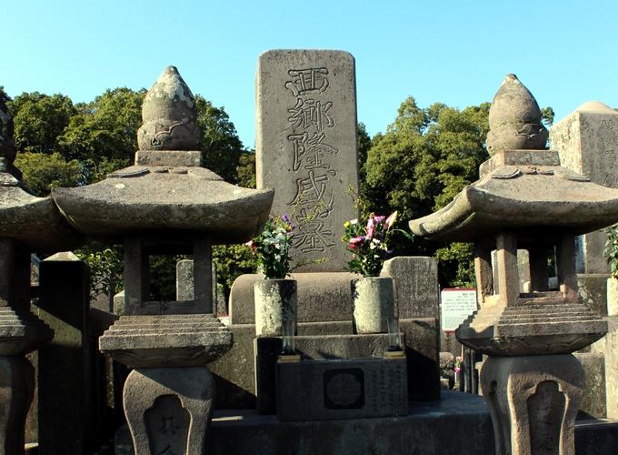 南洲墓地、西郷隆盛の墓碑