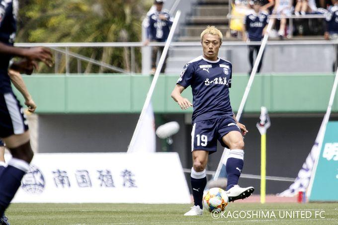 鹿児島ユナイテッドFC:DF/堤俊輔選手プレー中