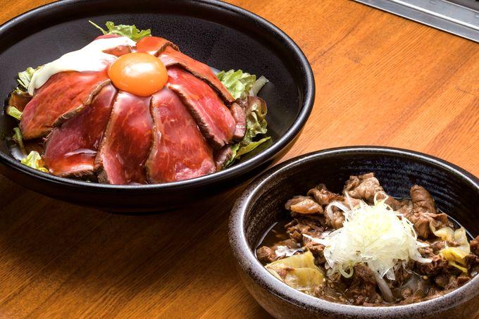 ローストビーフ桜島丼とA5ランクの牛すじ煮込み