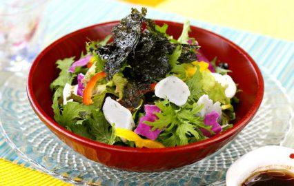 しそ棒天と海苔の韓国風サラダ